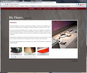 Screenshot www.ricfloors.be