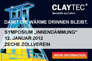 """Ergänzend zur DEUBAU: CLAYTEC Symposium """"Innendämmung"""""""