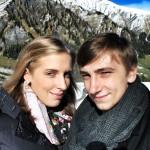 Waren in den Alpen unterwegs: Yola und Ivan