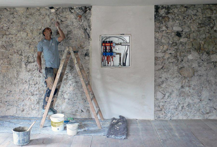 Engagierter Handwerker und Lehmbau-Spezialist: Larry Weiß