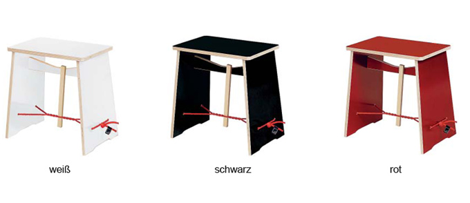 "Farbvarianten Design-Hocker ""Strammer Max"""