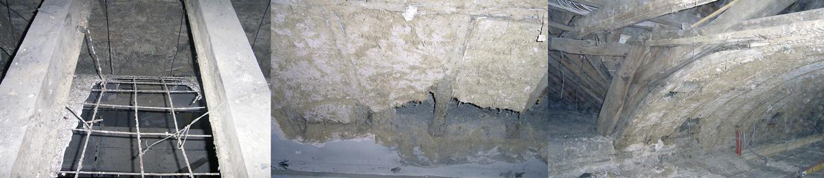 Irreparables Eisengeflecht - Wasserschaden am Fachwerk – weitgehend intakte, Jahrhunderte alte Lehm-Ausfachungen