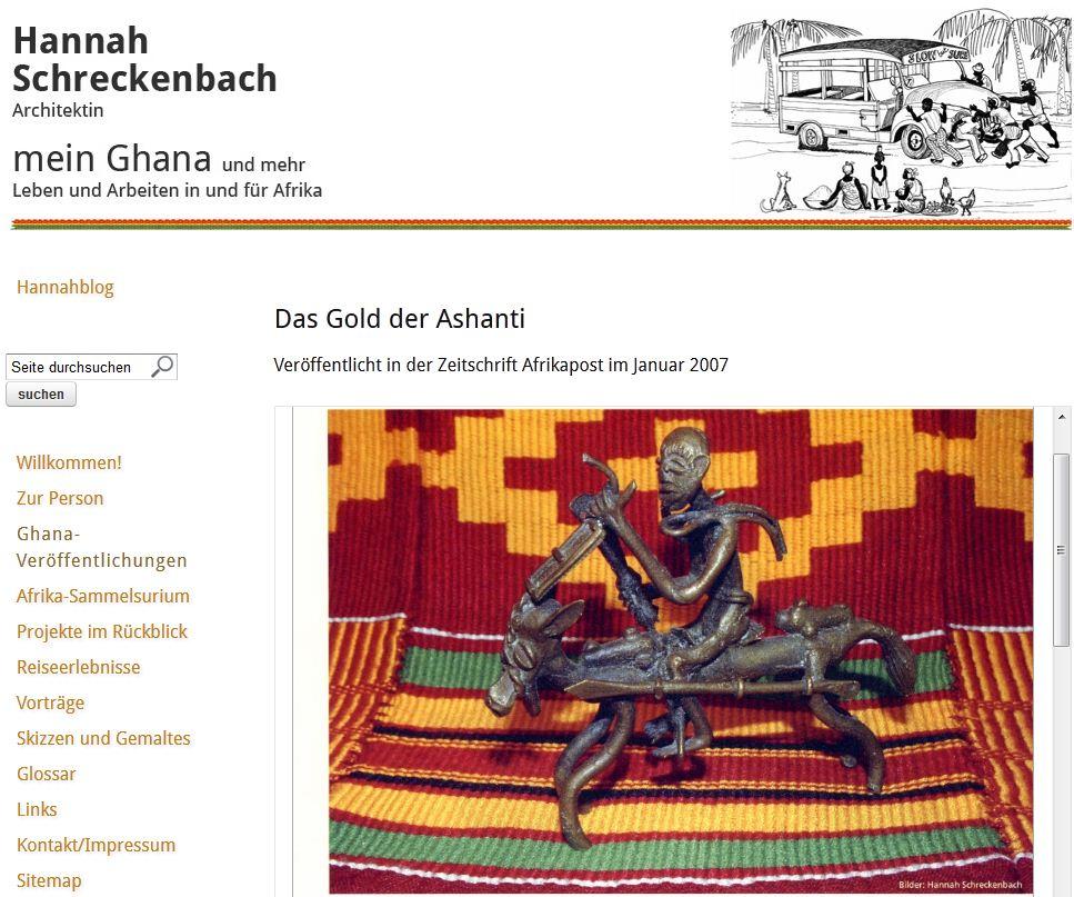 Fundgrube (nicht nur) für Afrika-Freunde: Homepage schreckenbach.info