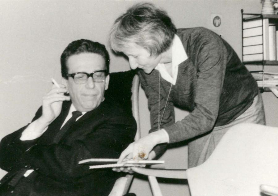 Wilhelm Ernst Barkhoff und Gisela Reuther, Gründer der GLS Bank Foto: GLS Bank