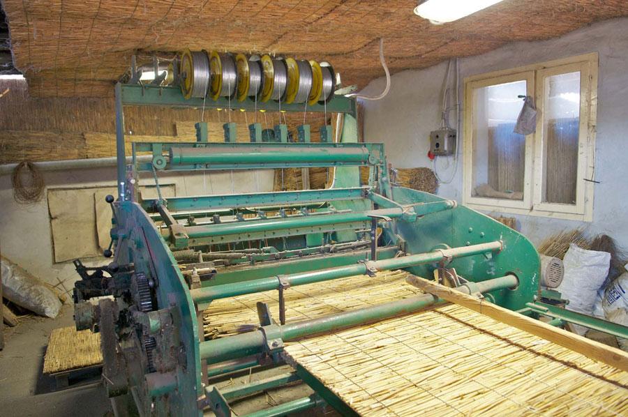 Produktion von Schilfrohr-Matten in Pirto  Foto: M. Breidenbach