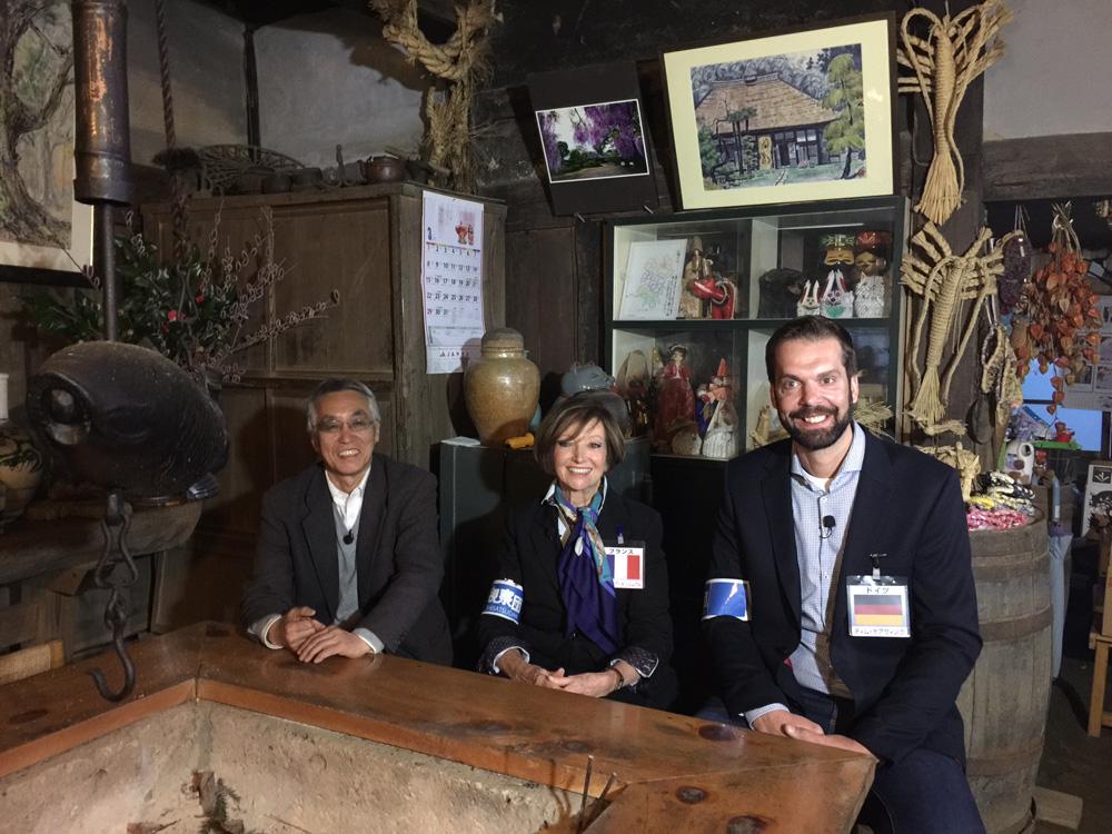 Gruppenfoto mit Professor Ando und der französischen Architektin