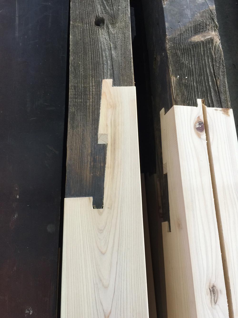 verschiedene Holztechniken