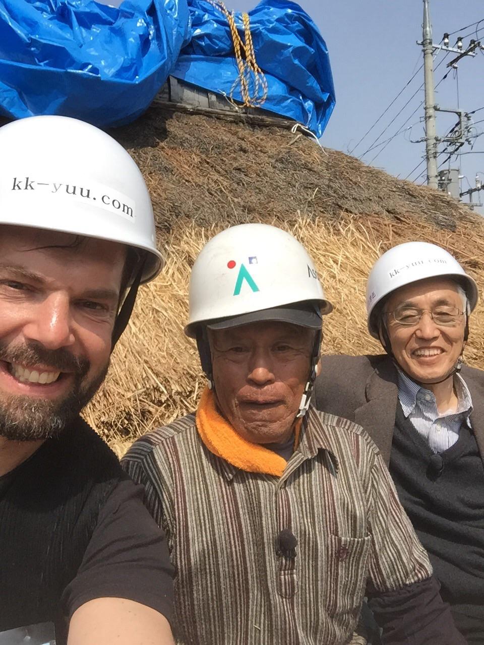 Foto mit Professor Ando und dem Dachdeckermeister