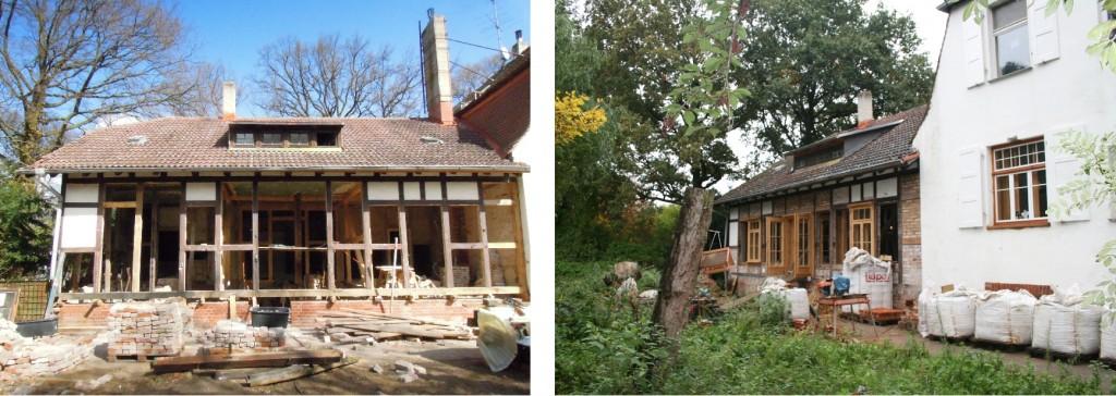 Gartenansicht des Café Verde - während der Bauzeit