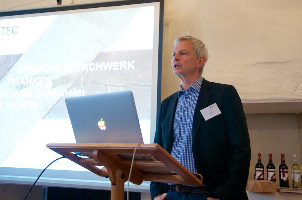 Als Referent gesetzt: Organisator und Lehmbau-Spezialist Ulrich Röhlen, Leiter Technik und Vertrieb CLAYTEC