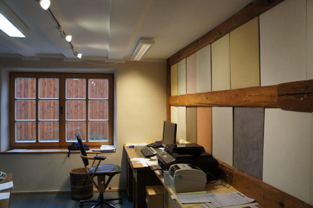 Büro und Empfang mit YOSIMA Musterflächen
