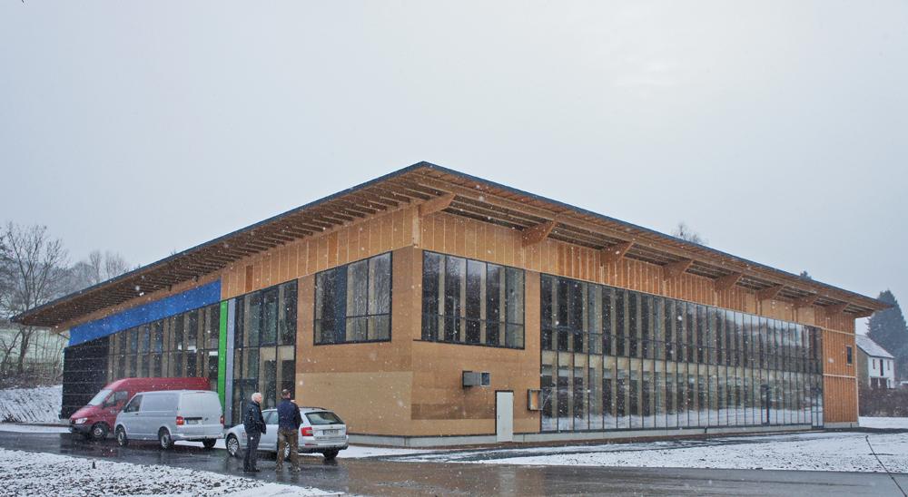 Zum Zeitpunkt des Berichts noch im Bau: Firmensitz in Oelsnitz/Vogtland