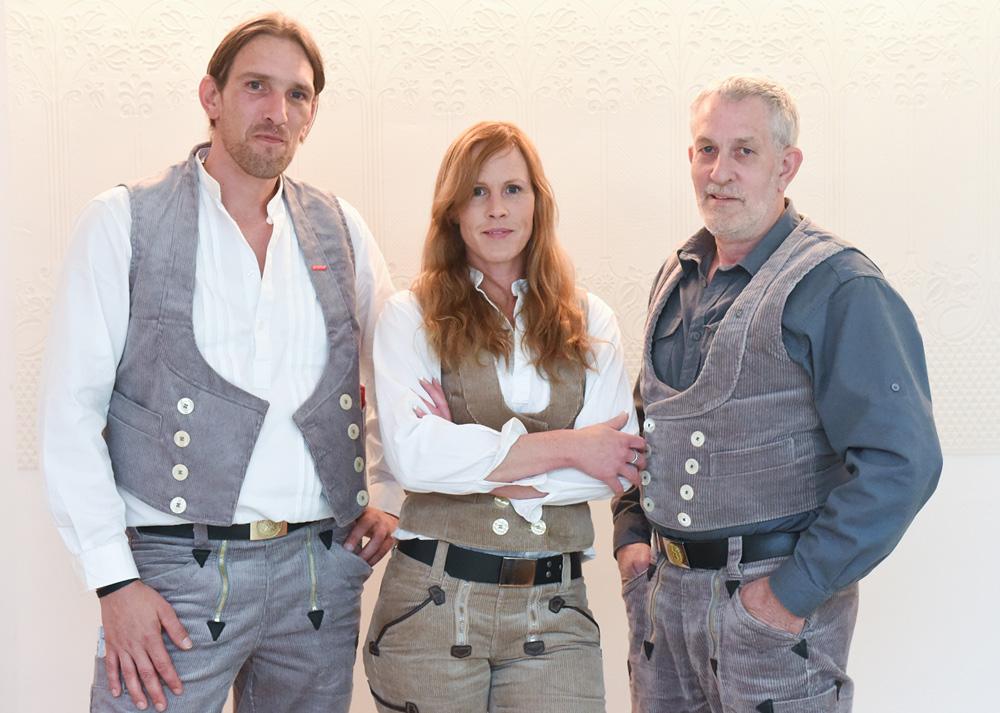 Carsten, Melanie und Hans Reuter (von links)