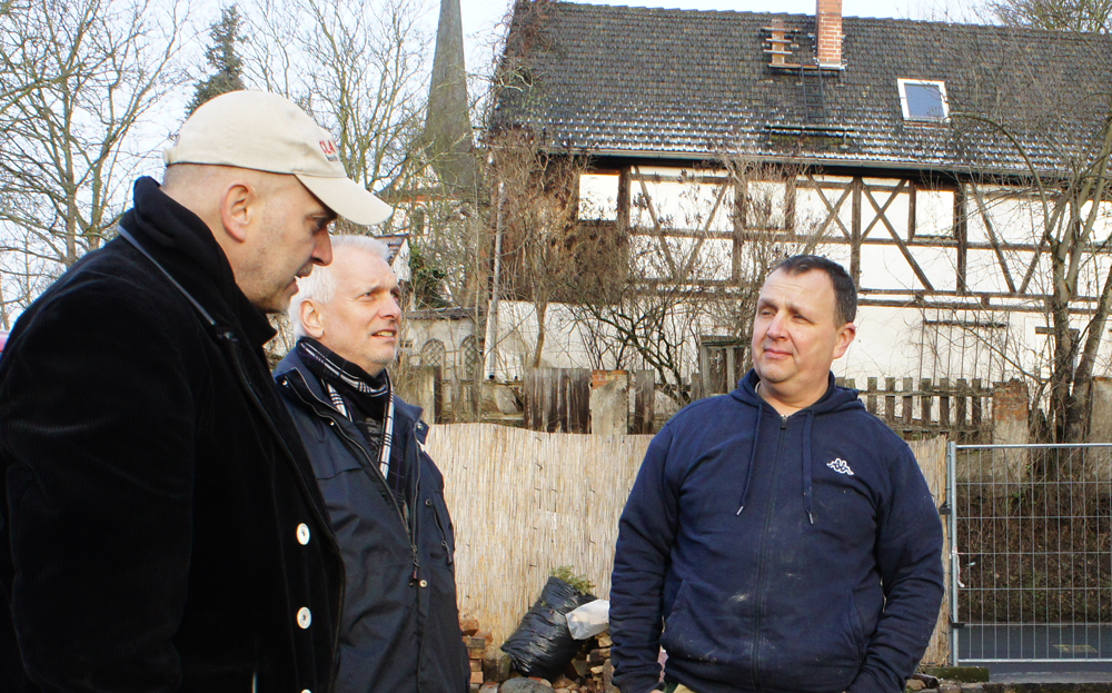 Treffen in Leipzig-Wahren: CLAYTEC Supporter Andreas Wugk und Wolfgang Milarch, Torsten Selle (v.li.)