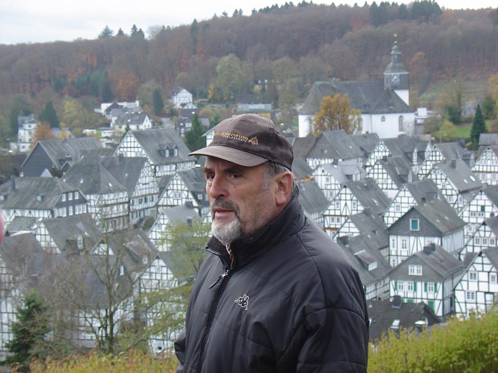 Herr Geldsetzer, die gute Seele des Technikmuseums Freudenberg