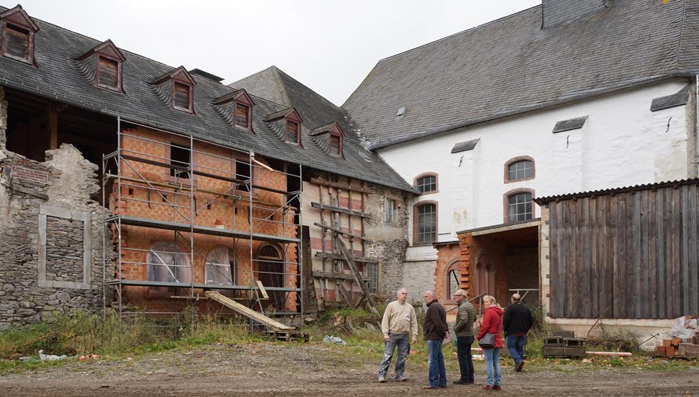 Der Südflügel musste teilweise neu errichtet werden.