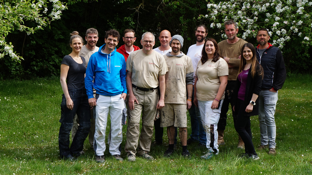 Schufen beeindruckende Arbeiten: die Finalisten des CLAYTEC Wettbewerbs Oberflächenwerkstatt